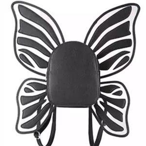 Handbags - Butterfly backpack fairy black wings rave festival